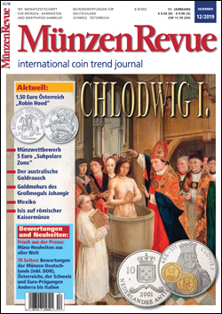 MünzenRevue Ausgabe 12/2019 - Cover
