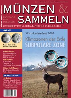 Münzen & Sammeln Ausgabe 12/2019 - Cover